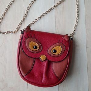 Aldo cute owl crossbody vegan leather purse